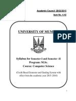 Syllabus Msc i II