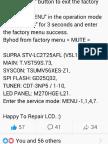 V56 Service Mode