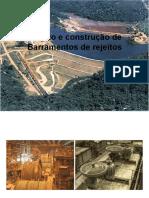 Desenvolvimento Mineiro - Barramentos de Rejeitos