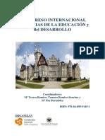 Actas I Congreso Internacional de Ciencias de La Educacion y El Desarrollo