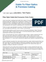 Fiber Optic Cable Color Codes
