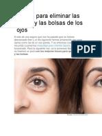 Trucos Para Eliminar Las Ojeras y Las Bolsas de Los Ojos
