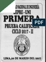 CepreUNI 1era Prueba Calificada 2017-II