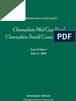 2009 Champlain Annual Report
