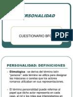 Cuestionario de Personalidad BFQ