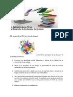 Aplicación de las TIC en el Desarrollo de contenidos curriculares