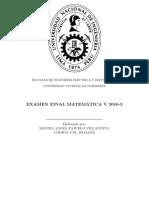MA185 MATEMÁTICA V Examen Final