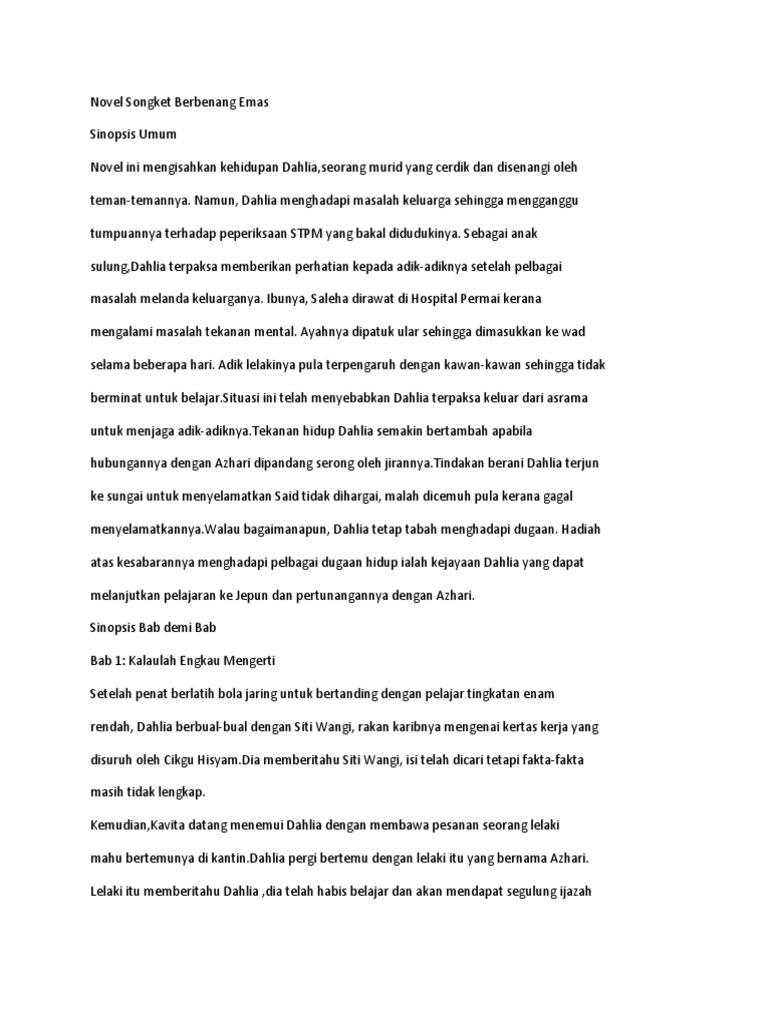 Novel Songket Berbenang Emas Fatin Izaty