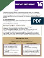 peer mentor guide sheet