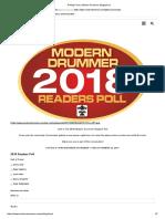 Polling Form _ Modern Drummer Magazine