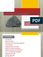 Chromite benefication