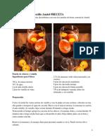 RECETA Ponche de Frutas Al Estilo Anatol