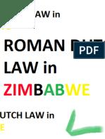 Roman Dutch Law in Zimbabwe