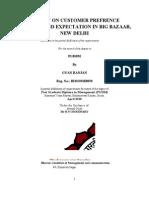Project on Customer Preferences of Big Bazaar GYAN