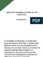 L'approche stratégique fondée sur les ressources