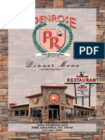 Penrose Diner - Dinner Menu