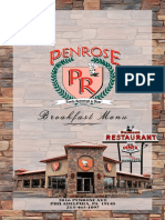 Penrose Diner - Breakfast Menu