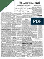 Periódico El Sol Madrid-1917 31-01-1929