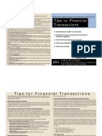 (Consumer) Tips for Financial Transactions