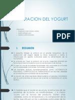 bioquímica del yogurt