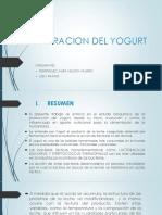 Trabajo de Bioquimica del yogurt