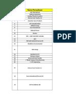Daftar Perusahaan Pembangkit (Dari Angkatan 2015)