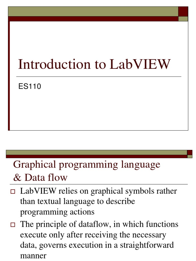 Introduction to Labview | Data Type | Areas Of Computer Science