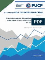 El Voto Emocional. Un Análisis Del Rol de Las Emociones en El Comportamiento Politico Electoral Peruano