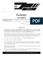 Prelims Test 04 and Solutions - Economy