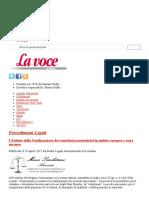 L'Istituto Della Totalizzazione Dei Contributi Pensionistici in Ambito Europeo e Extra Europeo _ La Voce d'Italia