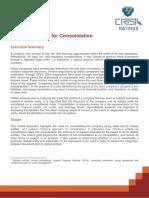 CRISILs Criteria for Consolidation