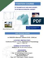 Plaster Fixation Course