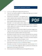 Aide-Mémoire Présentation Matrice