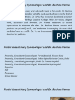 Fortis Vasant Kunj Gynecologist and Dr. Rachna Verma