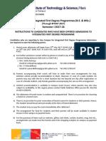 Goa _ Admission Instructions