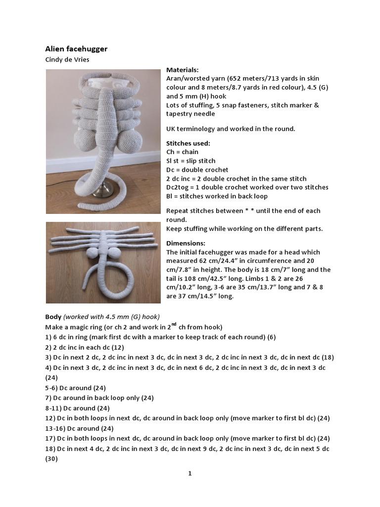 Alien Facehugger UK Update | Crochet | Clothing Industry
