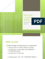 Friction Losses in a Series of Pipes