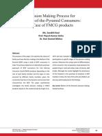 Decision Making Process Bottom of the Pyramid Consumers Surabhi Piyush and Hari