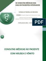 Condutas Médicas No Paciente Com Naúseas e Vômitos.curso de Condutas Médicas Nas Intercorrências Em Paciente Internado.cremEC