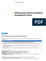 CEB HR Business Partner Individual Development Plans (1)