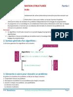 1- MODULE PROGRAMMATION STRUCTURÉE - Partie 1 + Travail à faire