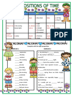 Prepositions of Time 10593