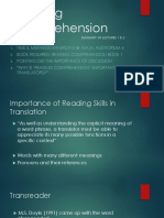 Reading Comprehension TranOpenLearningFirst