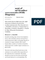 Measurement of Climate and Weather Instruments (With Diagram)