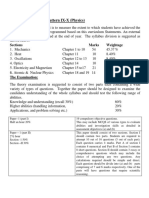 Assessment Pattern X