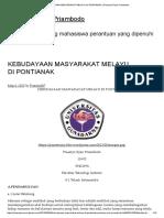 Kebudayaan Masyarakat Melayu Di Pontianak _ Prasetyo Ryan Priambodo