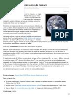 Breves-De-maths.fr-la Planète Terre Notre Unité de Mesure