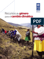 Guia - Recursos de Género para el Cambio Climático PNUD México