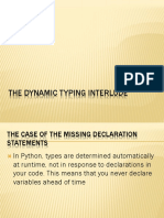 The Dynamic Typing Interlude
