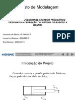 ANÁLISE DE VELOCIDADE ATUADOR PNEUMÁTICO DESIGNADO A OPERAÇÃO DO SISTEMA DE ROBÓTICA GANTRY